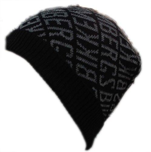 Cuffia Uomo Bikkembergs con risvolto HAt berretto cappello In lana Invernale Nero grigio
