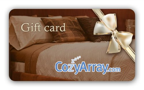 Cozy Array Bedding Gift Card - $150