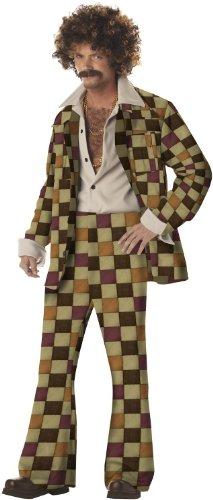 California Costumes Men's Disco Sleaze Ball Costume,Brown,X-Large
