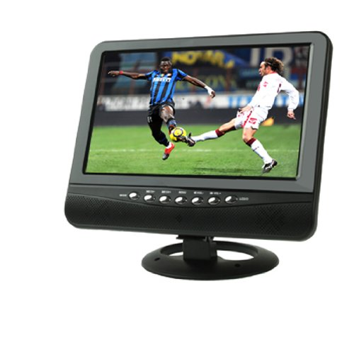 Diylooks Portable 9.5 Inch Tft Lcd Analog Tv With Wide View Angle, Support Sd/Mmc Card