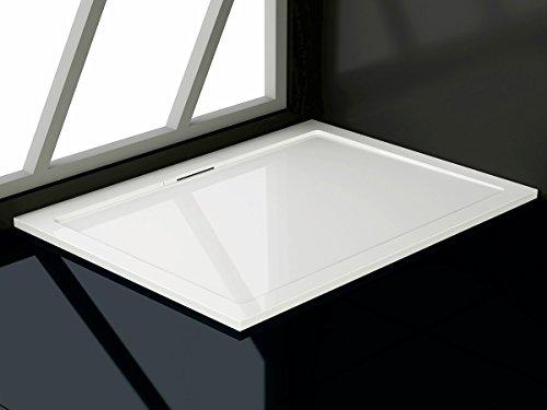soho duschtasse aus mineralguss rechteckig 80x90 80x100. Black Bedroom Furniture Sets. Home Design Ideas