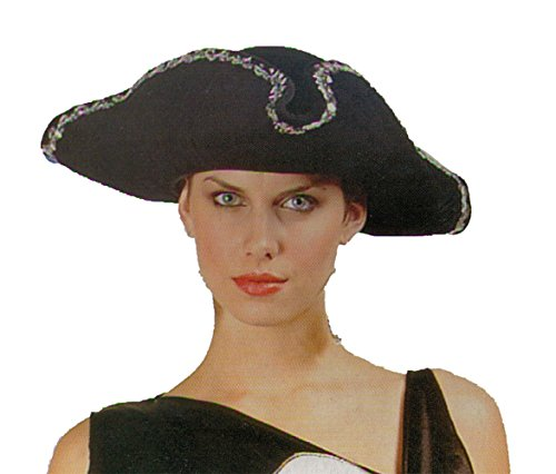 [Adult Sparkly Sequined Tricorn Hat] (Adult Colonial Tricorn Hat)