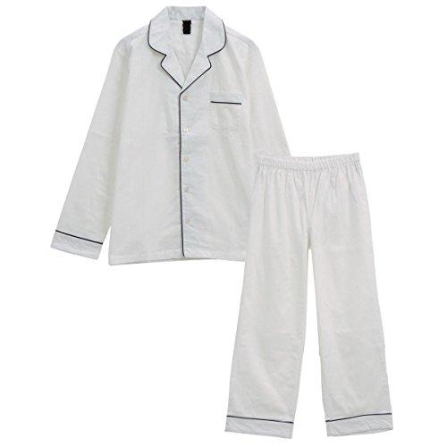 (ブルーミングフローラ)bloomingFLORA Standard Label 綿100% シンプルパジャマ レディース&メンズ(WHM-
