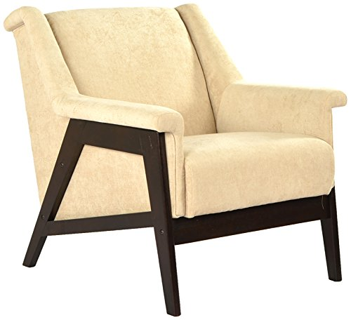 Cozyhomz CZF-ALW1 Single Seater Sofa (Varnish Finish, Cream)