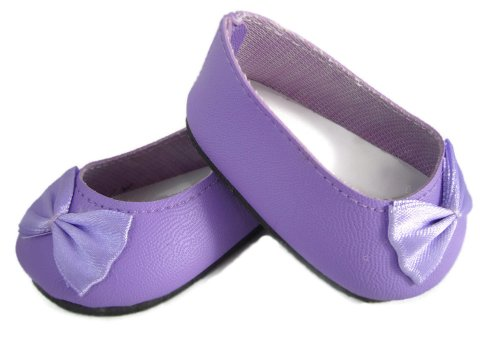 Light Purple Ballet Flats Fits American Girl Dolls front-108117