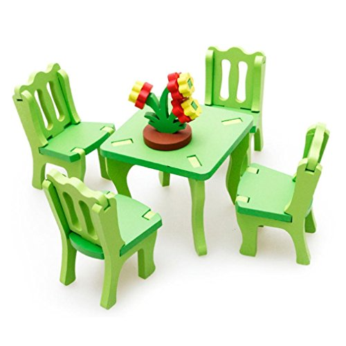 Leerya kid children educational toy wooden blocks 3d - Table chaise enfant pas cher ...