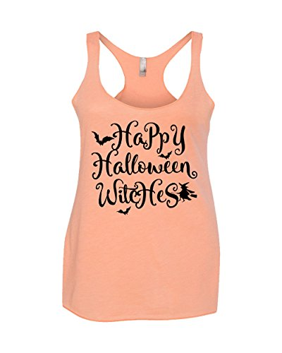 Happy Halloween Witches Women's Triblend Tank Orange XX-Large (Walmart Women Clothing compare prices)