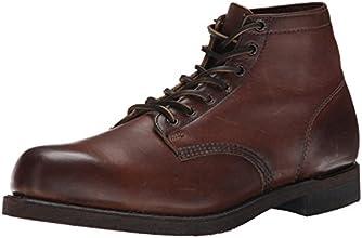 FRYE Men's Prison Boot, Dark Brown Soft Vintage Leather, 10.5 M US