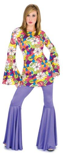 [Funny Fashion Purple Hippie Disco Bell Bottom Halloween Costume Pants Small] (Seventies Fashion Costumes)