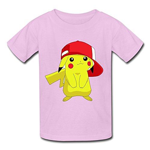 Kids-Photo-Pokemon-Pikachu-White-Background-T-shirts-By-Mjensen