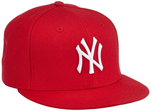 New Era Erwachsene Baseball Cap Mütze MLB Basic NY Yankees 59 Fifty Fitted, Scarlet/White, 6 1/2, 10879077