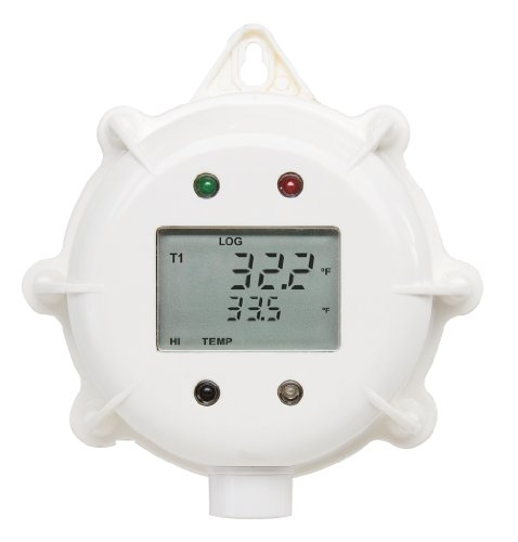 Hanna Instruments Hi141Gh Temperature Datalogger With Internal And External Sensor, Lcd Display And Molded Hook, 86.5Mm Diameter X 35Mm Height, -40.0 To 125.0 Degree C Range, 1M Cable
