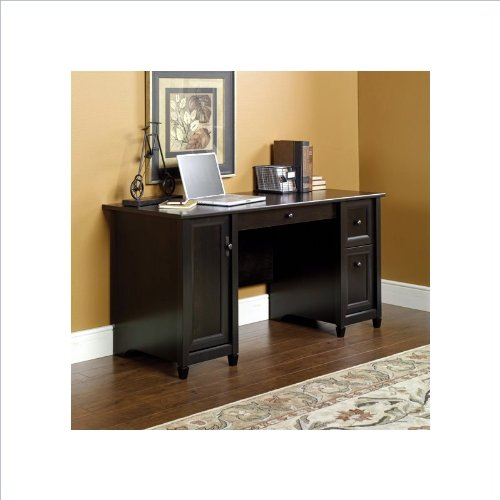 Cheap sauder edge water computer desk in estate black cheap home save 200 - Cheap black desks ...