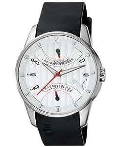Puma Time Herren-Armbanduhr XL 24H Race Silver White Analog Quarz Plastik PU102391002