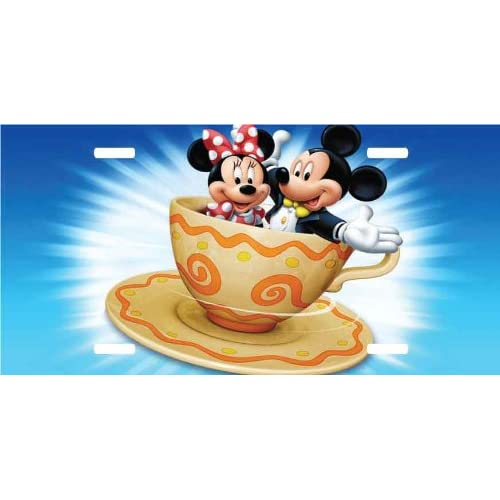 Amazon.com - Mickey Mouse & Minnie Mouse License Plate Teacup Blue