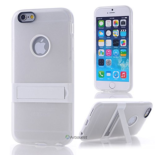 """Arbalest® Iphone 6 Case 4.7 Inch , [ Kickstand Hybrid Series] [ Perfect Slim Fit ] Matte Hard Back Cover With Kicksatand Hybrid Case For Apple Iphone 6 4.7"""" 2014 ( Verizon, At&T Sprint, T-Mobile, Unlocked ) - Color White"""