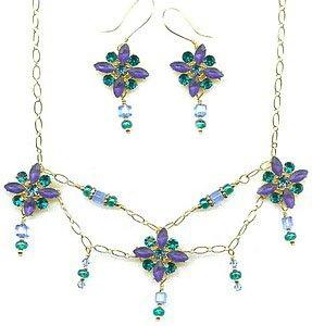 Tudor Blue Jewelry Set
