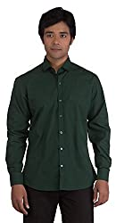 BearBerry Long Sleeve Casual Green Shirt (Small)