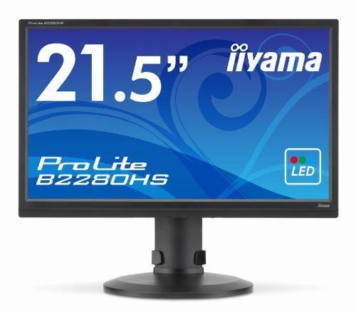 "Iiyama B2280HS-B1 Ecran PC sans tuner LED 21.5"" 1920 x 1080 Noir"
