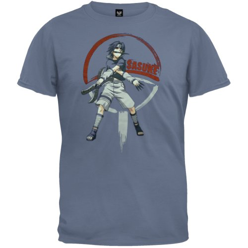 Naruto - Boys Sasuke Knives Youth T-Shirt Youth X-Large Light Blue