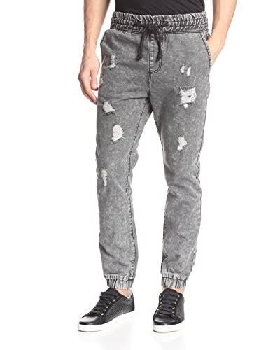 X-Ray Men's Denim Jogger with Rip