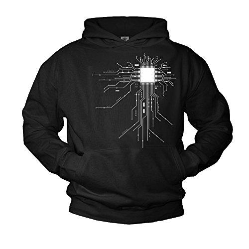 Pullover con cappuccio - GAMER CPU - Felpa con stampa Big Bang Theory nerd XL