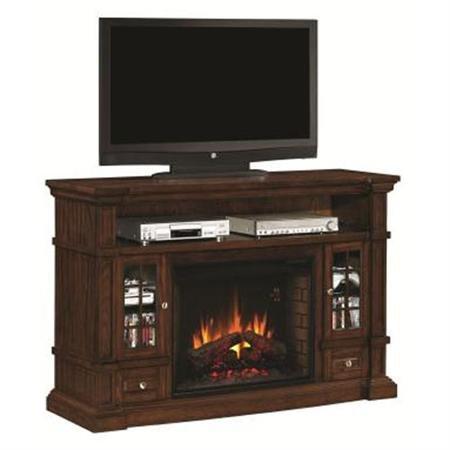 Fireplace Twin Star Classic Flame Dakota Media Console Electric Fireplace In Caramel Oak