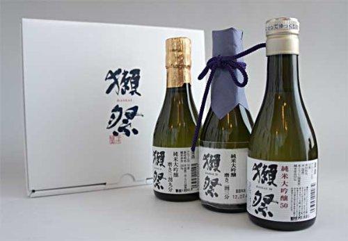 獺祭(だっさい) 純米大吟醸 飲み比べ 180ml×3本セット 専用カートン入