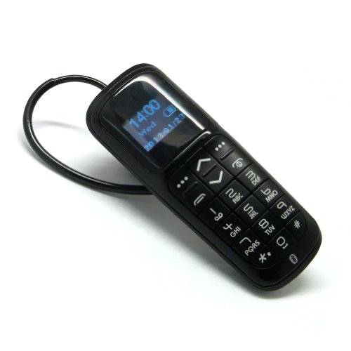 Multifunctional Bluetooth Headset Dialer Mini Bluetooth Mobile Phone Dialer Headset Keyboard Anti-Lost (Calling Supported) Black