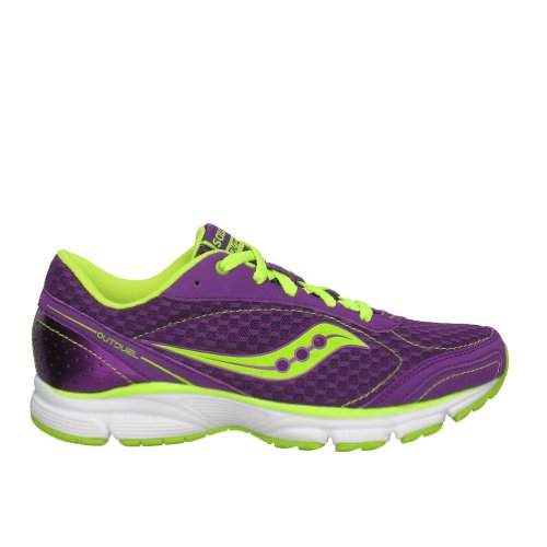 Saucony Women's Grid Outduel Running Shoe,Purple/Citron,6 M US