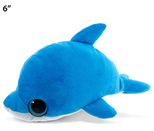 Puzzled Big Eye Dolphin Plush, 6""