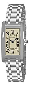 Cartier Tank Americaine 18kt White Gold Ladies Watch W26019L1
