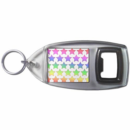 Rainbow Star Pattern - Bottiglia di plastica Opener portachiavi