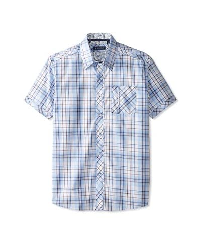 Zagiri Men's Plaid Short Sleeve Sportshirt