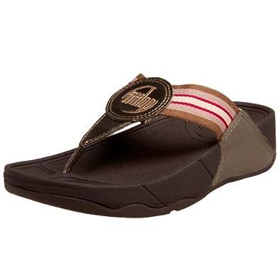 FitFlop Women's Walkstar Classic Thong Sandal,Bronze,10 M US