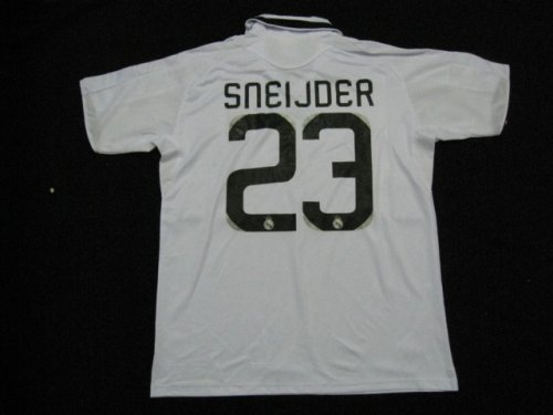 08-09 REAL MADRID HOME JERSEY SNEIJDER + FREE SHORT (SIZE M)