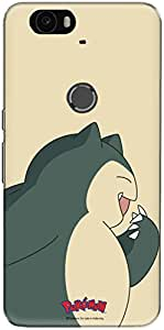 The Racoon Grip printed designer hard back mobile phone case cover for Huawei Nexus 6P. (curious sn)