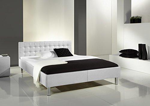 Meise Möbel 355-10-30000 Polsterbett Fantasy mit Kunstlederbezugbezug, Liegefläche, 140 x 200 cm, weiß thumbnail