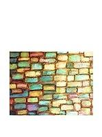 FOOL COLORS by MANIFATTURE COTONIERE Cubresofá Mosaic Verde Agua/Multicolor 100 x 85 cm