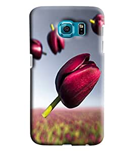 Blue Throat Pink Flower With Its Garden Printed Designer Back Cover/Case For Samsung Galaxy S6 Edge Plus