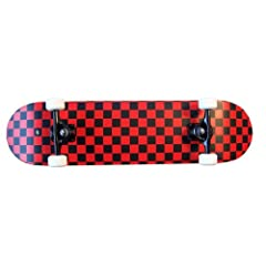 Buy PRO Skateboard Complete Pre-Built CHECKER PATTERN 7.75 in Black Red by Krown