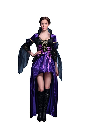 Miaoyifashion Womens Halloween Cosplay 2 Piece Wicked Queen Adult Costume