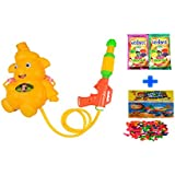 Darling Toys Holi Combo Pack (1 Water Gun+2 Herbal Gulal+1 Pack Balloon)