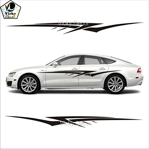 Vicky decor car sticker side crs025 full body vinyl car decal size 60inch x 11