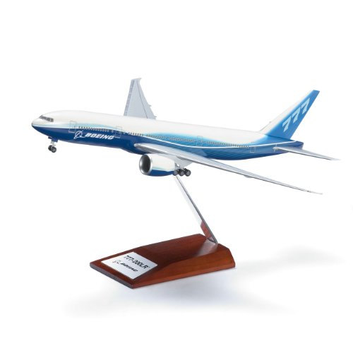 777-200LR Snap-Together Model with Wood Base