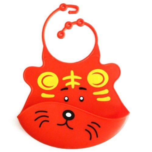 Deer Mum Silicone Baby Bibs Cute Cartoon Animal Face Design Waterproof Bib (14) front-277688