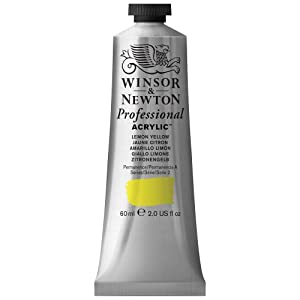 Winsor & Newton 60ml Artists' Acrylic Colour - Lemon Yellow
