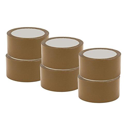 6-rouleaux-ruban-scotch-adhesif-marron-havane-48-x-66-sans-bruit-low-noise-premiere-qualite