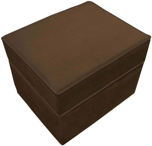 The Rockabye Glider Storage Ottoman, Micro Chocolate Brown