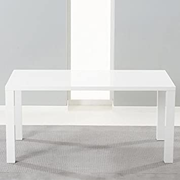 Hereford MDF With White High Gloss Finish Dining Table